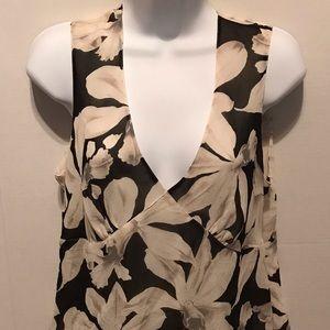 Banana Republic sleeveless floral blouse.